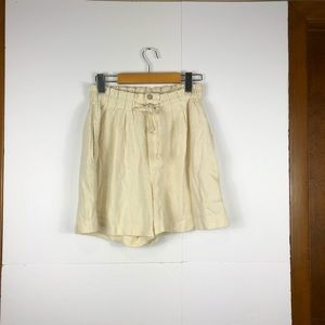 Pants - Ivory paper bag shorts Sz M